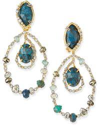 Alexis Bittar Orbiting Crystal Clip-On Earrings - Lyst