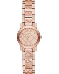 Burberry Rose Goldtone Stainless Steel Check Etched Bracelet Watch26mm - Lyst