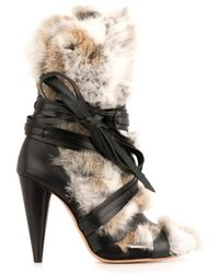 Isabel Marant Pietra Fur And Leather Boots - Lyst