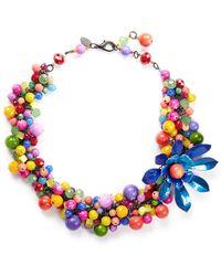 Erickson Beamon ''Kumbaya' Flower Bead Necklace - Lyst