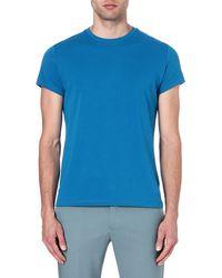 Jil Sander Crewneck Tshirt Blue - Lyst