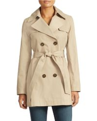 Via Spiga Double Breasted Scarpa Trench - Lyst