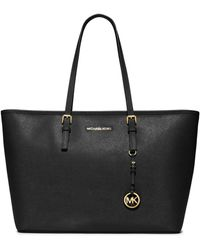 MICHAEL Michael Kors | Jet Set Saffiano Leather Travel Tote | Lyst