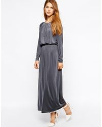Selected Moon Ls Maxi Dress - Lyst