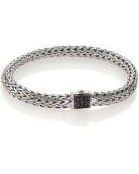 John Hardy Classic Chain Black Sapphire & Sterling Silver Small Bracelet silver - Lyst