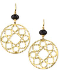Syna 18kt Mogul Earrings With Black Spinel WNOSM6