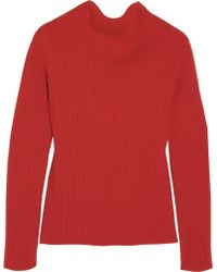 J.W. Anderson Ribbed Wool Sweater - Lyst