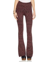 Free People | Flared Knit Pants | Lyst