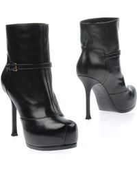 Yves Saint Laurent Rive Gauche Ankle Boots - Lyst