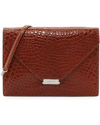Eric Javits Libby Embossed Flap Bag - Lyst