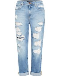Genetic Denim Gia Distressed Boyfriend Jeans - Lyst
