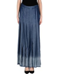 Liu Jo Denim Skirt - Lyst