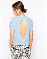 Asos Open Back Shell Top - Lyst