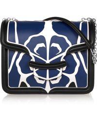 Alexander McQueen The Heroine Large Floral-Appliquéd Leather Shoulder Bag - Lyst