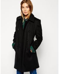 Cooper & Stollbrand | Simple Pea Coat | Lyst