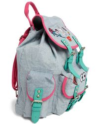 Lazy Oaf Denim Backpack with Patches - Lyst