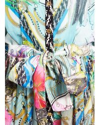 Matthew Williamson Atlas Silk Palazzo Jumpsuit - Lyst