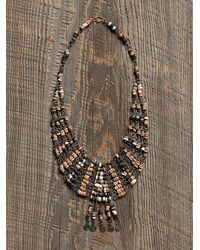 Free People Womens Vintage Beaded Fringe Necklace - Lyst
