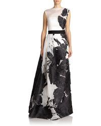 St. John Floral Fil CoupÉ Gown black - Lyst