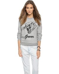 Zoe Karssen Grrr Sweatshirt - Grey Heather - Lyst