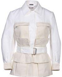 Alexander McQueen Jacket white - Lyst