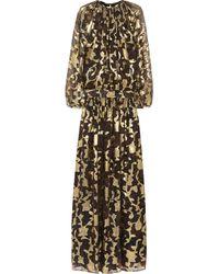 Etro Metallic Silkblend Fil Coupé Gown - Lyst