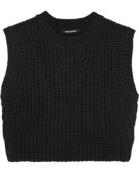 Neil Barrett Cropped Woolblend Top - Lyst