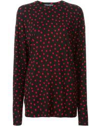 Dolce & Gabbana Polka Dot Sweater - Lyst