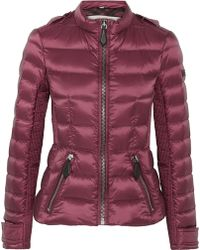 Burberry Brit - Leather-trimmed Quilted Shell Down Jacket - Lyst