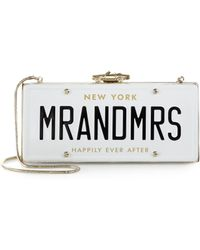 Kate Spade Wedding Belles License Plate Clutch - Lyst