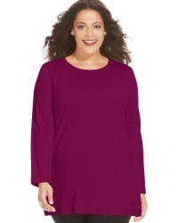 Jones New York Collection Plus Size Tunic Sweater - Lyst