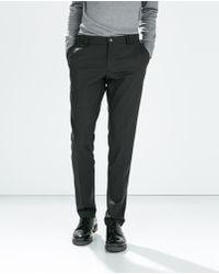 Zara Charcoal Trousers - Lyst