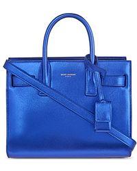 Saint Laurent Sac De Jour Nano Mini Metallic Over The Shoulder Handbag - For Women - Lyst