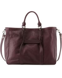 Longchamp 3d Large Leather Tote Bag - Lyst