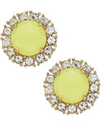 Kate Spade New York Gold Tone Florescent Yellow Stud Earrings - Lyst