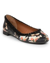 Givenchy Ninni Printed Leather Ballet Flats - Lyst