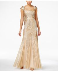 Adrianna Papell | Sequin Beaded Ball Gown | Lyst