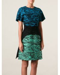 Proenza Schouler Flocked Layered Dress - Lyst
