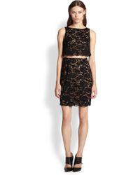 Bailey 44 Desert Moon Cutout-Waist Lace Dress - Lyst