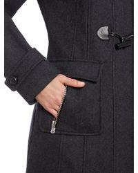 Halifax Traders - Black Ladies Wool Duffle Coat With Hood - Lyst