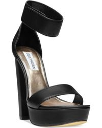 Steve Madden Cluber Two Piece Platform Sandals - Lyst