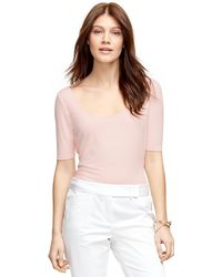 Brooks Brothers Jewel Neck Knit - Lyst