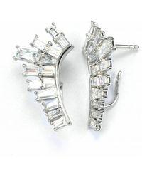 V Jewellery Baguette Lobe Earrings - Lyst