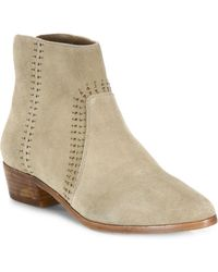 Joie | Lucy Embellished Suede Booties | Lyst