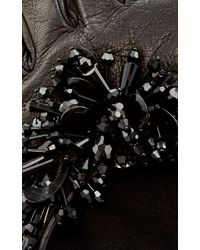 Oscar de la Renta - Black Paillette-embroidered Gloves - Lyst