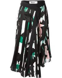 Capara - Printed Asymmetric Skirt - Lyst