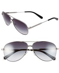 Marc By Marc Jacobs - 60mm Stainless Steel Aviator Sunglasses - Ruthenium/ Grey Gradient - Lyst