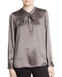 Joie Flavie Satin Blouse - Lyst
