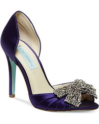 Betsey Johnson Blue by Gown Evening Pumps - Lyst
