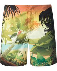 Orlebar Brown Jungle-Print Swim Shorts - Lyst